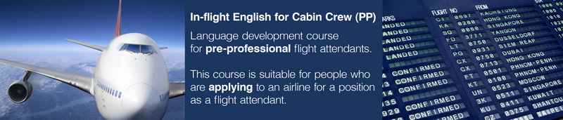 English course for flight attendants